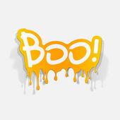 Boo inscription — Stock Vector