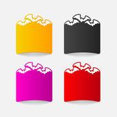 Bat design element — Stock Vector