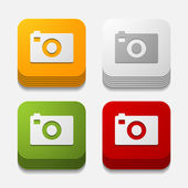 Photo buttons — Stock Vector