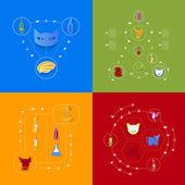 Veterinary icons — Stockvektor