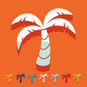 Abstract palm — Stock Vector