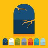 Halloween náhrobek — Stock vektor