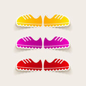 Sneakers design element — Stock Vector