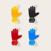 Gloves design element — Stock Vector