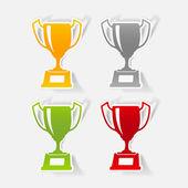 Winner cup design element — Stock Vector