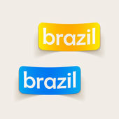 Brazil inscription — Stock Vector