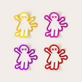 Bambola voodoo — Vettoriale Stock