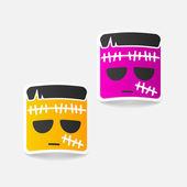 Zombie design element — Vector de stock