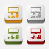 Computer buttons — Stock Vector