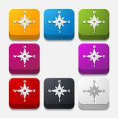 Compass buttons — Stock Vector