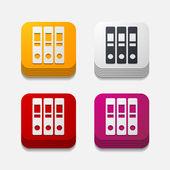 Folder buttons — Stock Vector