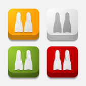 Flippers buttons — Wektor stockowy