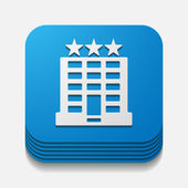 Hotel button — Stock Vector