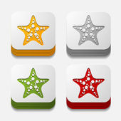 Starfish buttons — Stock Vector