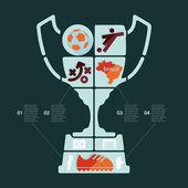 Infografía de fútbol — Vector de stock