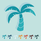 Palm icons — Stock Vector