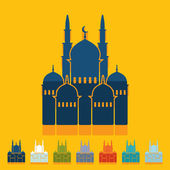 Mosque icons — Stock Vector