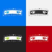 Augen Aufkleber Satz — Stockvektor