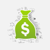Money sack sticker — Wektor stockowy