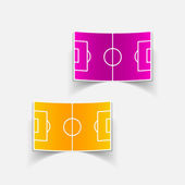 Football playing fields design elements — Vector de stock