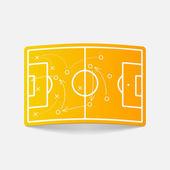 Fußball-spielfeld-design-element — Stockvektor