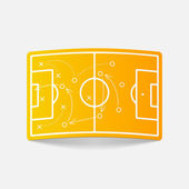 Fotbalové hřiště designový prvek — Stock vektor