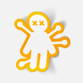 Voodoo Doll design element — Wektor stockowy