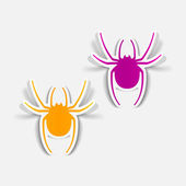 Spiders design elements — Stock Vector