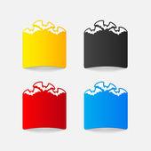 Bat design elements — Stock Vector