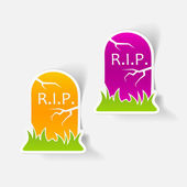 Tombstone design elements — Stockvector