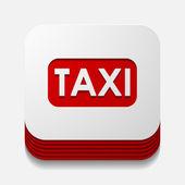 Taxi button — Stock Vector