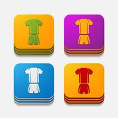 Football clothing button — Vector de stock