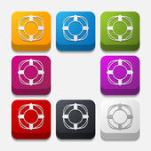 Lifebuoy button — Stock Vector