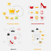 Set of fashion stickers. — Stock Vector