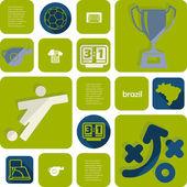 Fotbal, fotbalové infographic — Stock vektor