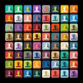 Zombie hands icon set — ストックベクタ