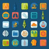 Conjunto de ícones médicos planas — Vetorial Stock
