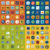 Set of medical flat icons — Stock Vector