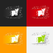 Cow stickers set — Stock Vector