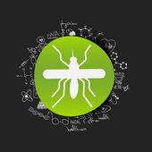Mosquito sticker — Stock Vector