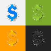 Money stickers set — Stock Vector