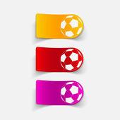 Football ball design element — Stock Vector