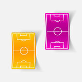 Football playing field design element — Stockvector