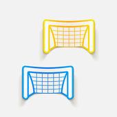 Voetbal poort ontwerpelement — Stockvector