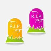 Tombstone design element — Vecteur
