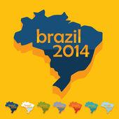 Plochý design: Brazílie — Stock vektor