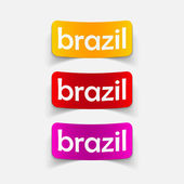 Brazil design element — Vector de stock