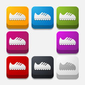 Sneakers buttons set — Stock Vector