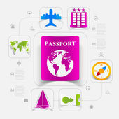 Conjunto de iconos de turismo de verano — Vector de stock