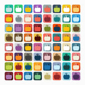 Pumpkin icons — Stock Vector